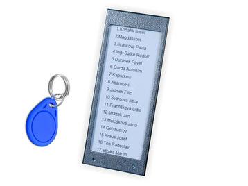 Jmenovky 17N ACC s přístupovým systéme RFID